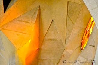 ... Ceiling detail in amber light ...