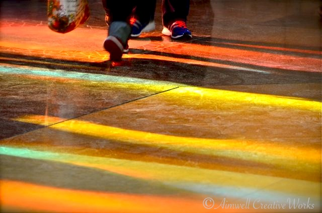... Light painted floor ...