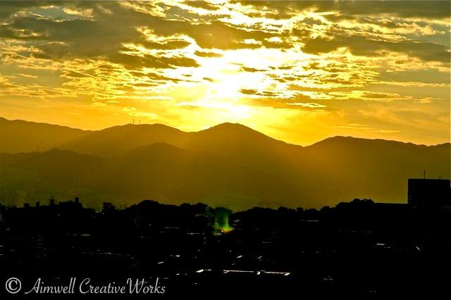 Sunrise over Hiroshima