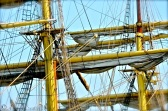 Up the rigging ...