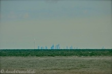 Of course, his view across the lake would not have included this skyline of modern-day Toronto ...