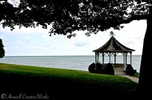 With the exception of the gazebo it would have looked more like this (Toronto skyline slightly visible to left of image) ...