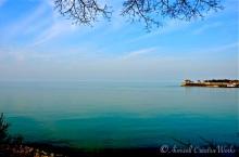 Inland sea meets sky