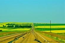 Lost on the horizon, near Drumheller, Alberta