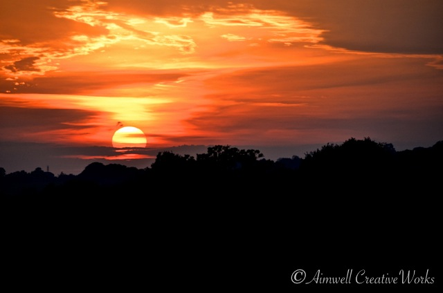 Grand is the splendour of things ... Sunset over West Sussex, England