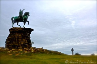 Grand is the scale of things ... The Copper Horse on Snow Hill, Windsor Great Park