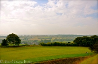 Looking to the west from the ancient settlement of Old Sarum in Wiltshire.