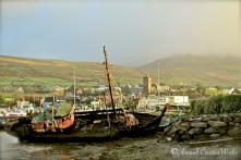 Abandoned boat at Dingle harbour, Co. Kerry, Ireland